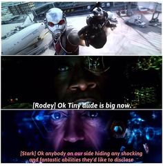 This scene was GOLD <-Tony's line here is one of my favourites in the whole film<<< AND RHODEY'S