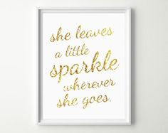 She leaves a little sparkle. #glamnursery #brattdecor