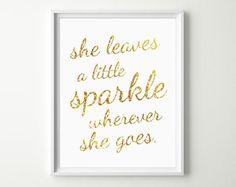 She leaves a little sparkle. #glamnursery #brattdecor