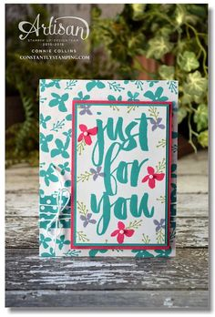 handmade card .. teal and hot pink .. fresh look with off-center placement of main panel ... Stampin' Up!