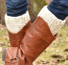 Free Knitting Pattern for Double Kick Boot Cuffs