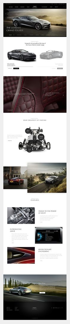 Aston Martin Interactive Experience on Behance