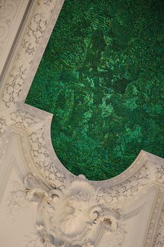 """Jan Fabre, """"Heaven of Delight"""" - Brussels, 2002.  Ceiling of the Royal Palace; it's made out of one million six hundred thousand jewel-scarab wing cases."""