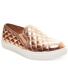 """Quilted details up top make this style stand out from the rest. The Ecentrc-q platform sneakers by Steve Madden. 