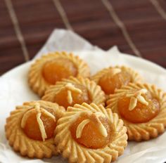 Pineapple Tarts Ingredients Pastry: 400g plain flour 250g cold butter, diced 2 egg yolks, cold 2 tbsp iced water 1/2 tsp salt 1/...