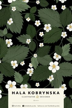 Summer pattern with strawberries flowers. White flowers illustration. Spring pattern with delicate flowers. White flowers on light background. Perfect for postcard, textile, packaging, wrapping paper   pretty, berries, pattern, plant, illustration, flora, cute, beautiful, leaves, springtime, rustic, foliage, modern floral, hand drawn, flowers, gardening, dessert, ornament, season, tasty, blooming, botanical, wild, repeat, blossom, bloom, red, green, food, garden, berry, fruit, decorative