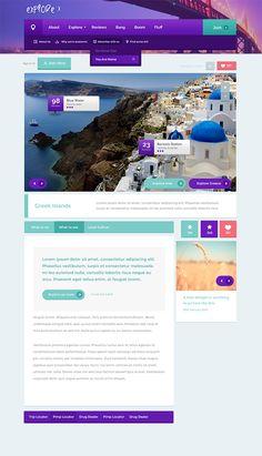 Funky & Creative Website Template, #Flat, #Free, #Layout, #PSD, #Resource, #Template, #Web #Design