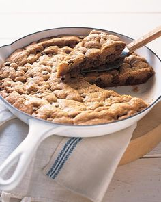 Our Favorite Cookie Recipes: Sometimes bigger really is better. Case in point: this giant cookie. Serve it warm with vanilla ice cream and caramel sauce for sheer dessert heaven.