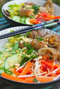 Asie – my cooking instinct Vegetarian Recipes, Cooking Recipes, Healthy Recipes, Healthy Food, Yummy World, Bo Bun, Vietnamese Cuisine, Asian Recipes, Ethnic Recipes