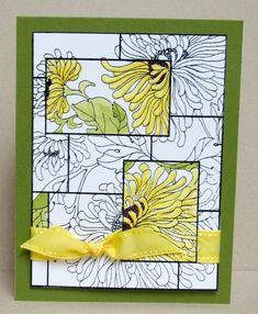 handmade card: Watercolor Mosaic by casep .. spotlight technique…