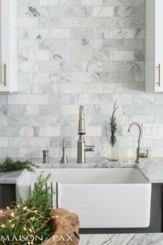 formica with marble backsplash kitchen makeover reveal