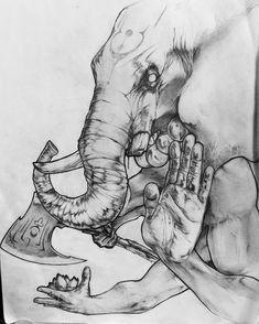 Воинственный и в тоже время мудрый Ганеша знает толк в эскизах!:) Подписывайся, пиши, заказывай полностью индивидуальный эскиз! #32daytattoo #tattoo #tattoosketch #ganesha #tattooganesha #tattooart #tattoodesign #tattooideas #тату #эскизтату #эскиз #идеятату #ганеша #индуизм #hinduism