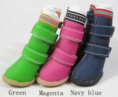 3 color-Pet dog shoes/Big dog boots/Pet boots/Non-slip rubber soles/waterproof shoes in autumn and winter