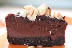 Raw Chocolate Hazelnut Cheesecake.