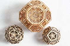 3D Laser Cut Geometric Design - Architectural Ornament - Archimedean Solids - Platonic on Etsy, $18.00