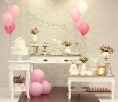cha de bebê, baby shower, menina, girl, verde rosa e dourado, green pink and gold, dessert dresser.