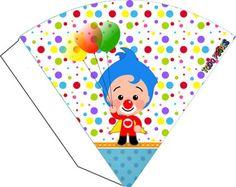 conos-dulceros-plim-plim-souvenirs-plim-plim-ideas-decoracion-plim-plim-moldes-plim-plim-gratis-kits-imprimibles-payaso-plim-plim Circus Birthday, Ideas Para Fiestas, Party In A Box, Candy Boxes, Playing Cards, Wings, Printables, Baby Shower, Paper