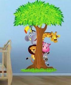 Decoración animal para la habitación de los niños
