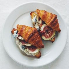 Wait, what? Figs and blue cheese... IN A CROISSANT? Why have I never thought of this?