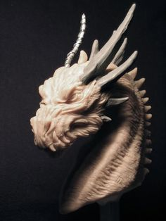 Smaug 2 dragon original concept sculpt bust by Creaturae on Etsy, $850.00
