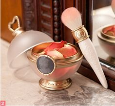 """Ladurée Les Merveilleuses.  FACE COLOR ROSE SET. This set includes the Face Color Special Case (pot) along with the blush powder refill. This cosmetic is cheek blush, having powder coated on flower-petal shaped sheet ...  """"Les Merveilleuses"""" roughly translates to """"fabulous divas"""" or marvelous women ..."""