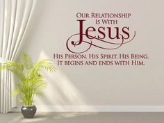 Christian Wall Decal. Our Relationship is by WeAreVinylDesigns, $26.00