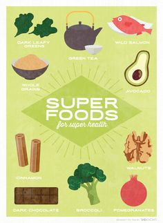 10 Best everyday superfoods infographic