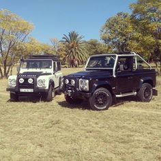 My two Land Rover Defender 90s. ICE limited edition and SVX limited edition