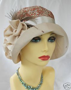 1920s Vintage Inspired Silk Cloche Hat Flapper Great Gatsby Downton | eBay