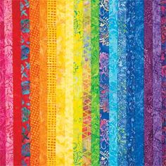 FAT-QUARTER CARNIVALE COLLECTION- Stitch the colors of celebration into your projects using this 20 piece batik collection for a total of 5 yards of beautiful batiks! Suitable for piecing or applique.