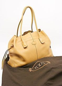 3c51550c9a1 Tod's Tods Pebbled Shoulder Tote in Camel Camel Tote Bags, Pebbled Leather,  Classic Style