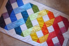 Celtic Table Runner Quilt from Quilts by Elena, via Etsy.  I do love celtic knots.