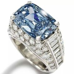 The Bulgari 'Trombino' ring auctioned at Bonhams this April, set with a cushion-shaped fancy deep-blue diamond weighing 5.30ct, realised £6.2 million, more than four times its high estimate.