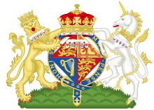 """Arms for HRH Princess Alexandra, The Honourable Lady Ogilvy (cousin of Elizabeth II).  She was the first Princess to use """"of Kent"""" since then-Princess Alexandrina Victoria (Queen Victoria)."""