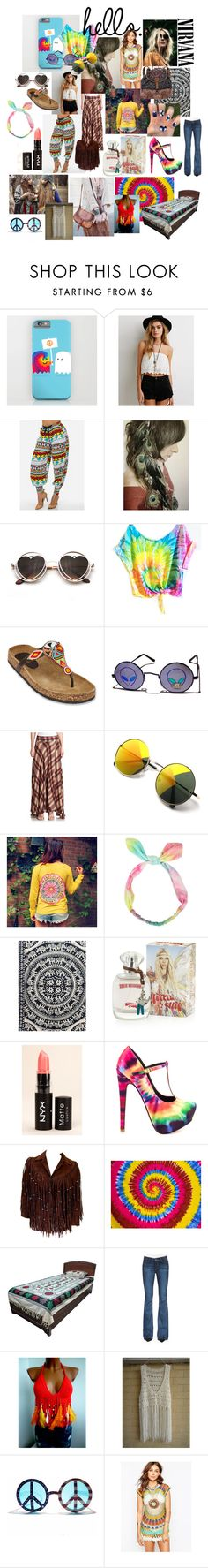 """""""Hippie style"""" by mathilda-lindquist ❤ liked on Polyvore featuring Matisse, Retrò, Haute Hippie, True Religion, NYX, TaylorSays, Bohemia, Paige Denim, INDIE HAIR and Spiritual Hippie"""