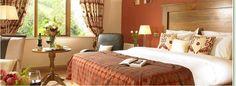 Warm and inviting hotel room at the Glengarriff Park Hotel. Memory foam mattresses. Beautiful!