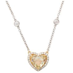 1stdibs.com   Fancy Color Diamond Heart