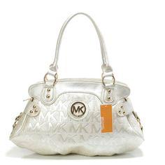 New Michael Kors Handbag MK Medium Black Gold Hardware