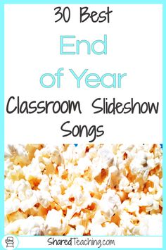 Looking for songs to add to your end of year classroom slideshow? Check out these 30 kid appropriate ideas to help your year come to life! Graduation Songs For Kids, Songs For Graduation Slideshow, Kindergarten Graduation Songs, Songs For Teachers, Pre K Graduation, Kids Songs, Graduation Parties, Teaching Kindergarten, End Of Year Activities