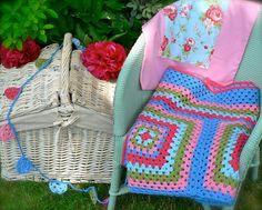 Cath Kidston Inspired Crochet Camper / Picnic by FuzzpotLane