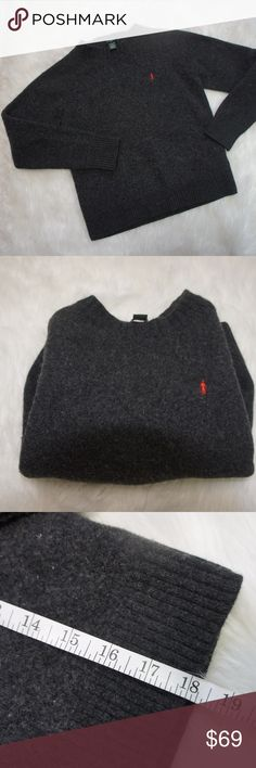 J. Crew lambs wool sweater grey Small Used but great condition lambswool sweater from J. Crew.  Grey color, simple design, warm to the touch.  I believe it's a children's small. J. Crew Shirts & Tops Sweaters