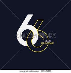 66 years anniversary celebration linked number logo, isolated on dark background - Shutterstock Premier Branding Design, Logo Design, Graphic Design, Number Logos, Anniversary Logo, Logo Type, Studio 54, Dark Backgrounds, Logo Inspiration