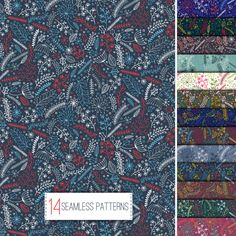 set-of-winter-floral-seamless-pattern_2253-93.jpg (626×626)