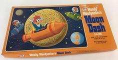 Vintage Woody Woodpecker Moon Dash Board Game, Walter Lantz, Milton Bradley 1976