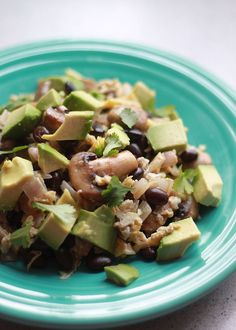 Black Bean, Mushroom & Avocado Breakfast Scramble | 29 Super-Easy Avocado Recipes