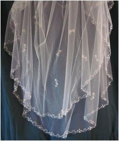 HOW TO: Embroider on tulle...Handcrafted Hitching Post: Down To The Wire DIY: Embroidered Veil