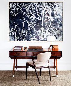 Inspiratieboost: een home office met kunst zorgt voor meer creativiteit - Roomed