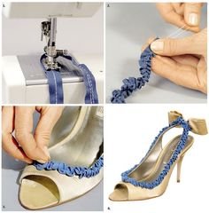 Beautify Your Shoes Using Simple Ribbon