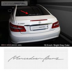 Detailpart Cursive Sticker Decal 430mm emblem for Mercedes Benz & AMG #Detailpart