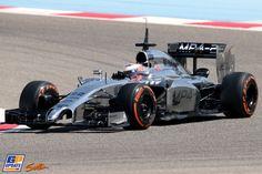 Jenson Button, Formule 1-test op het Bahrain International Circuit, 22 februari 2014, Formule 1